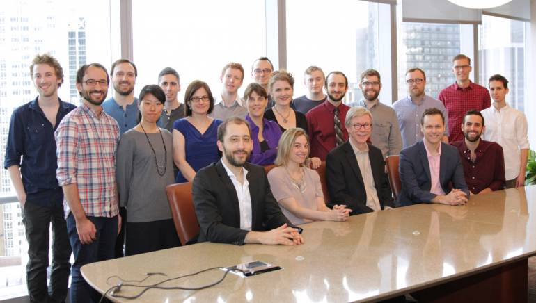 Pictured: Members of the BMI Lehman Engel Musical Theatre Workshop pose for a photo at BMI's NY office.