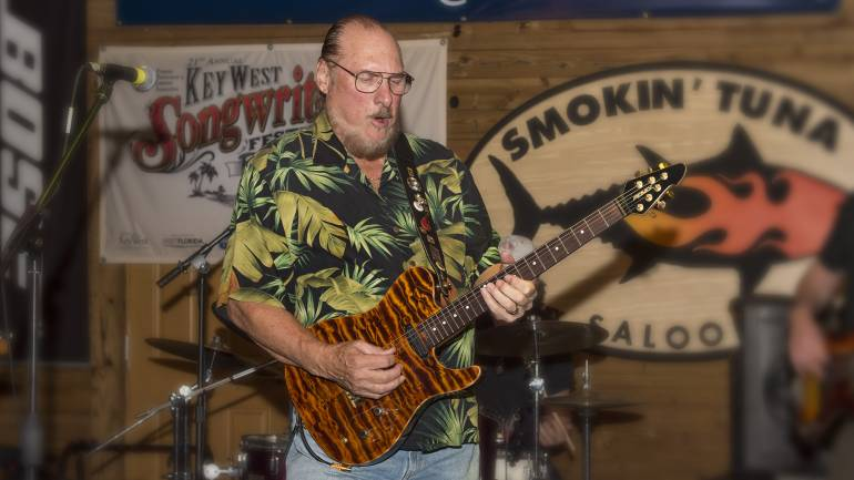 Steve Cropper performs on stage at the 2016 Key West Songwriters Festival