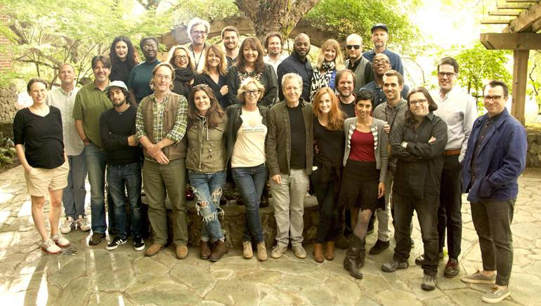 Pictured (L-R) at the Sundance Institute Music and Sound Design Labs at Skywalker Sound in California are (front row): director Rachel Israel, creative advisors Maclom Fife and Steve Bissinger, director Caesar Cervantes, creative advisor Kent Sparling, director Eva Vives, Sundance Institute feature film program director Michelle Satter, Sundance film music program director Peter Golub, composer fellow Amie Doherty, creative advisor Pete Horner, composer fellows Amritha Vaz, Alexis Grapsas and Gus Reyes, director Adam Christian Clark and creative advisor Brandon Proctor. (Back Row): composer fellow Morgan Kibby, director Frances Bodomo, creative advisor and BMI composer Laura Karpman, Marco D'Ambrosio, creative advisor and music supervisor Tracy Mcnight, composer Tyler Westen, BMI's Doreen Ringer-Ross,director Kirill Mikhanovsky, composer fellow Jongnic Bontemps, Sundance Institute Lab manager Jenny Stamenson, Sundance Institute film music manager Jarom Rowland, creative advisor and Skywalker Sound designer Pascal Garneau and composer fellow Jermaine Stegall.