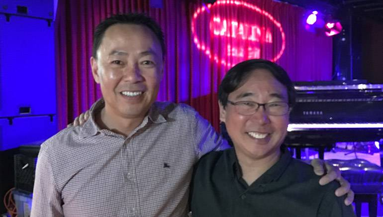 Pictured at the ASMAC luncheon are BMI's Ray Yee and guest speaker and BMI composer Nathan Wang.