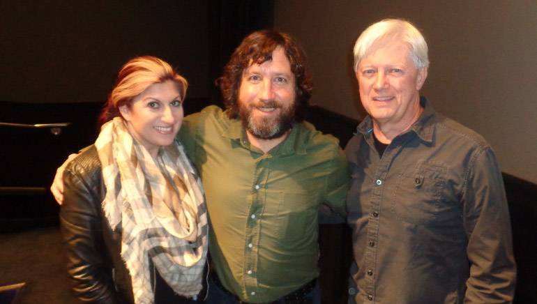"""BMI's Anne Cecere with BMI composer David Wingo and SCL Board member and the evening's moderator Chris Farrell at the SCL's screening of """"Loving."""""""