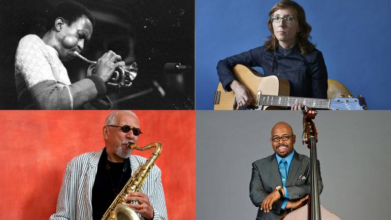 Pictured clock-wise from top left: BMI affiliates Don Cherry, Mary Halvorson, Christian McBride and Charles Lloyd