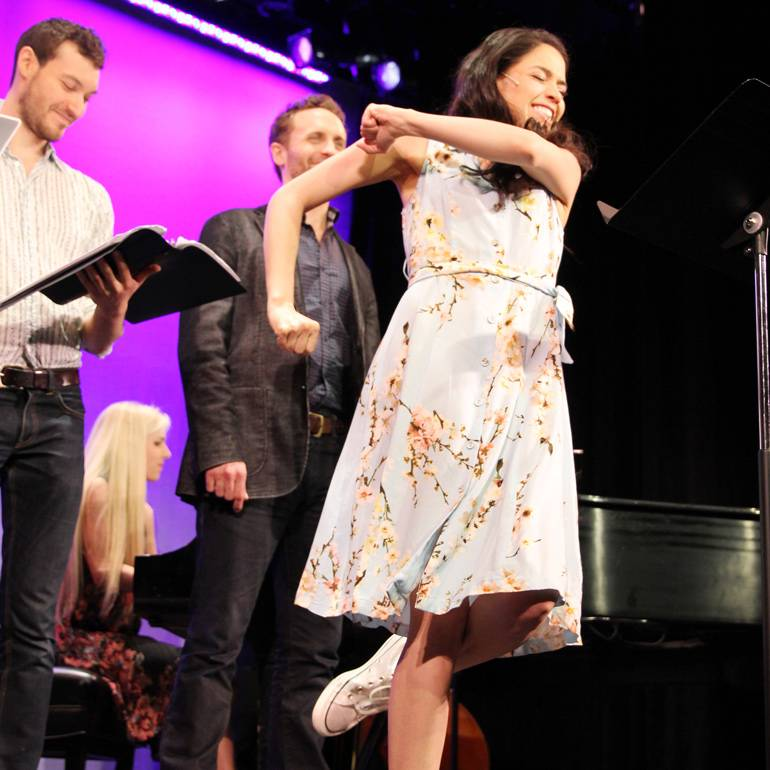 Arielle Jacobs and ensemble perform
