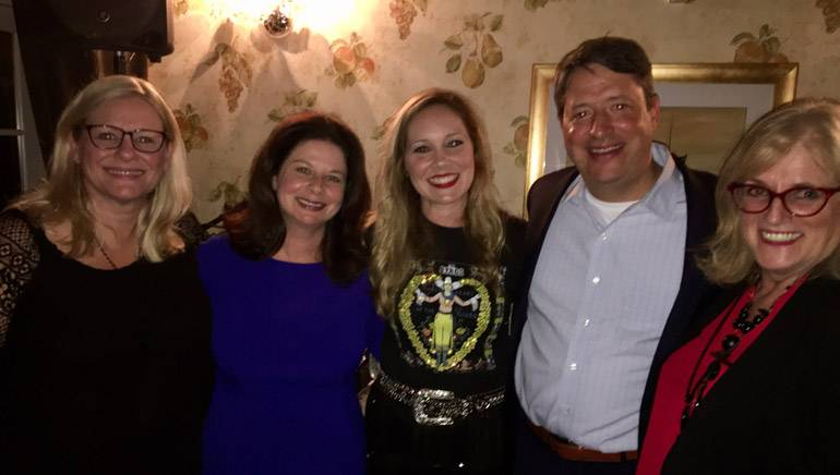 Pictured (L-R) after Leslie Tom's performance are: Oklahoma Restaurant Association Director, Strategic Programs & Events Patti Colley; BMI's Jessica Frost; BMI songwriter Leslie Tom, ISHAE Immediate Past Board Chair and CEO Tennessee Hospitality & Tourism Association Greg Adkins; and Rhode Island Hospitality Association President and CEO Dale Venturini.