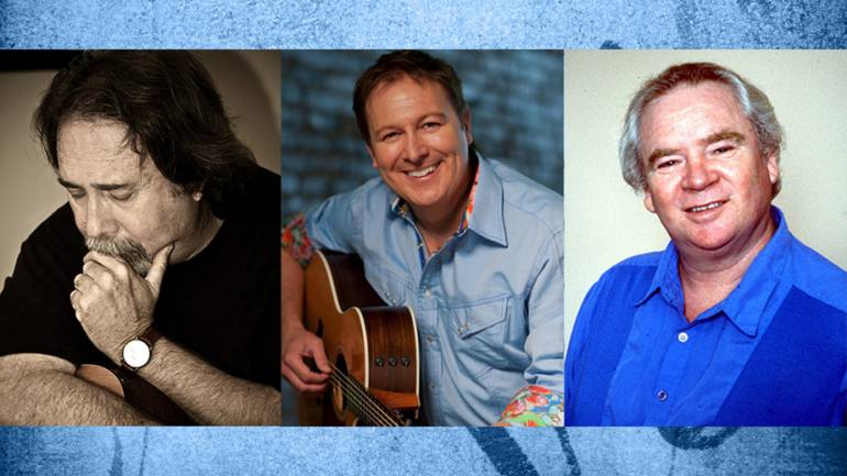 Pictured are BMI songwriters and 2017 NaSHOF inductees Jim McBride, Tim Nichols and Dwayne Blackwell
