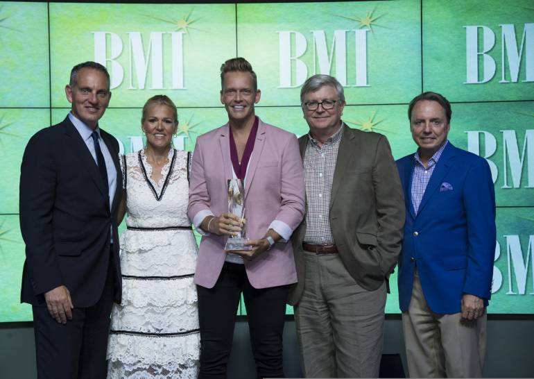 BMI's Mike O'Neill and Leslie Roberts, BMI Christian Awards Songwriter of the Year Bernie Herms and BMI's Phil Graham and Jody Williams.
