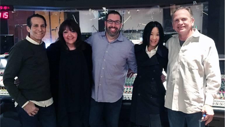Pictured (L-R): Todd Bozung, BMI's Doreen Ringer-Ross, BMI composer Christopher Lennertz, Dana Sano and Jeff Vaughn