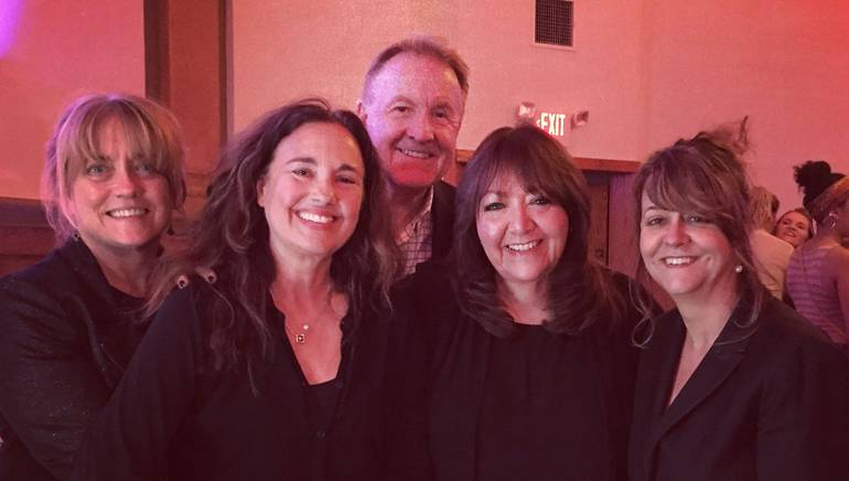 "Music supervisor Maureen Crowe, BMI composer Starr Parodi, Berklee's Peter Gordon, BMI's Doreen-Ringer Ross and music supervisor Tracy McKnight pause for a photo at ""Berklee Empowerment Initiative: Young Women In Music."""