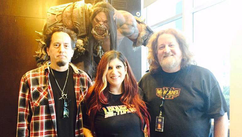 Pictured (L to R) are Project Music Director, Blizzard Entertainment, Derek Duke; BMI's Senior Director, Film, TV & Visual Media, Anne Cecere; and Blizzard Entertainment's Senior Audio Director and Lead Composer, Russell Brower.
