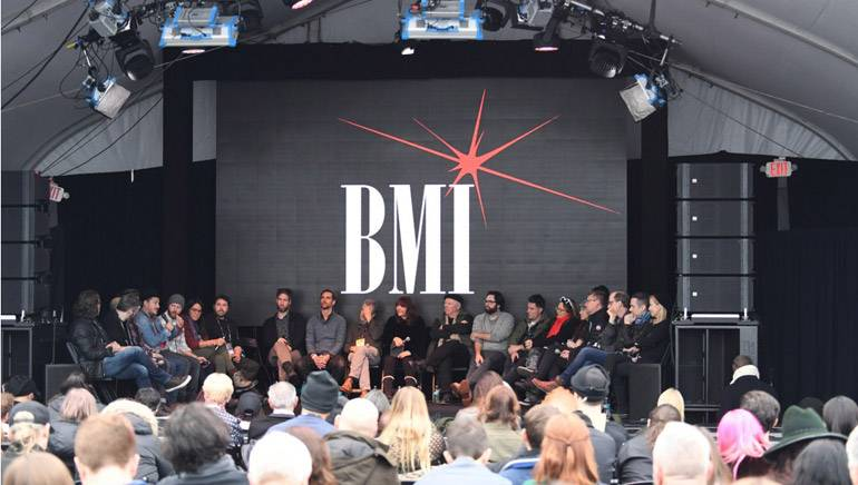 A captivated audience listens to the discussion at BMI's roundtable 'Music & Film: The Creative Process' presented by Canada Goose during the 2017 Sundance Film Festival in Park City, Utah.