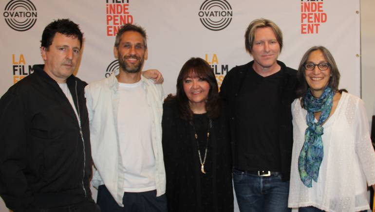 Pictured (L-R) at the LA Film Festival are: BMI composers Atticus Ross, Rob Simonsen, BMI's Doreen Ringer-Ross and BMI composers Tyler Bates and Miriam Cutler.