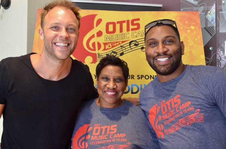 David Claassen pictured with Karla Redding-Andrews and Justin Andrews of the Otis Redding Foundation.