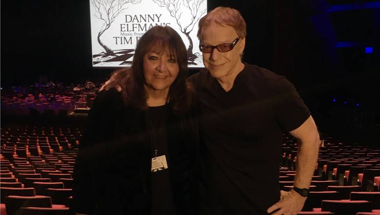 Pictured in Paris are: BMI's Vice President, Film, TV and Visual Media Relations Doreen Ringer-Ross with award-winning BMI composer Danny Elfman.