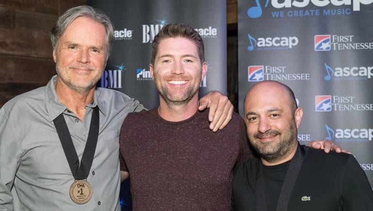 Pictured: (L-R): Songwriter Marc Beeson, BMI artist Josh Turner and BMI songwriter Daniel Tashian.