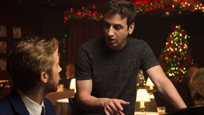 """Pictured: BMI composer Justin Hurwitz goes over the music for """"La La Land"""" with actor Ryan Gosling."""