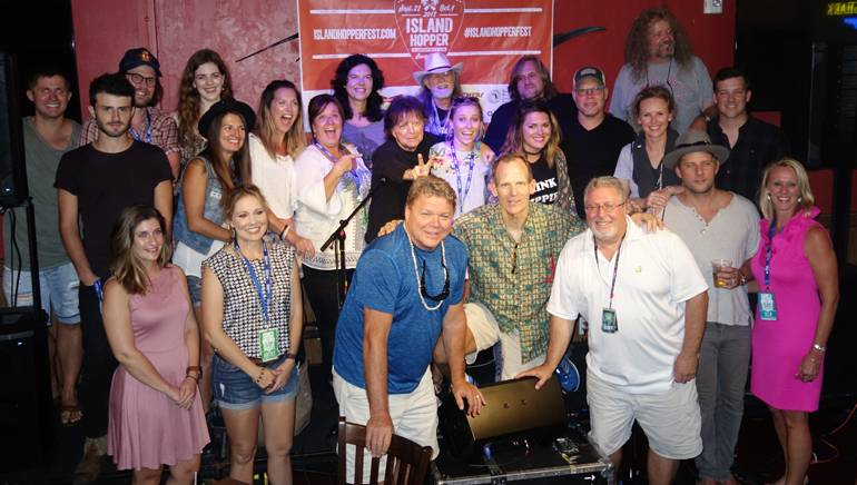 The BMI, iHeart Media and the Lee County Visitors and Convention Bureau teams gather with the BMI songwriters who brought their music to Captiva Island.