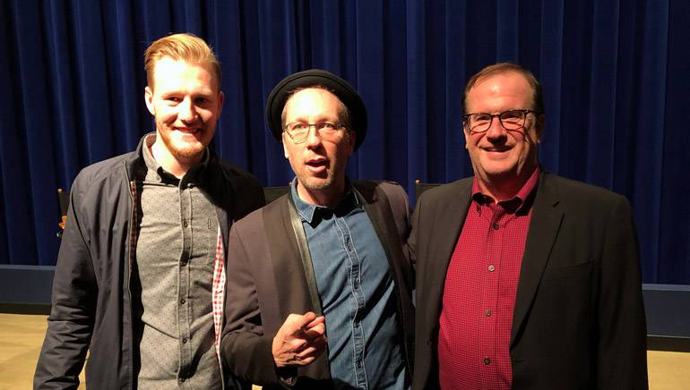 Pictured (L-R) at the screening are BMI's Chris Dampier, award-winning BMI composer Rolfe Kent and moderator Pete Hammond from Deadline.