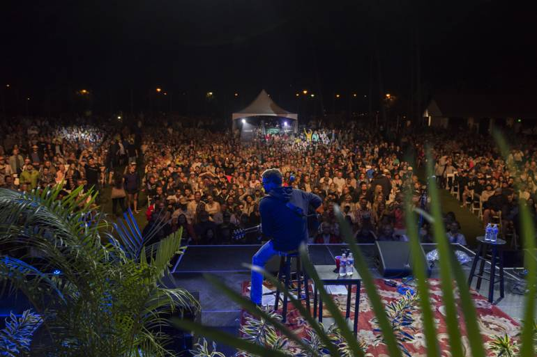 Eric Church performs in front of a record-breaking crowd at the Maui Arts and Cultural Center.