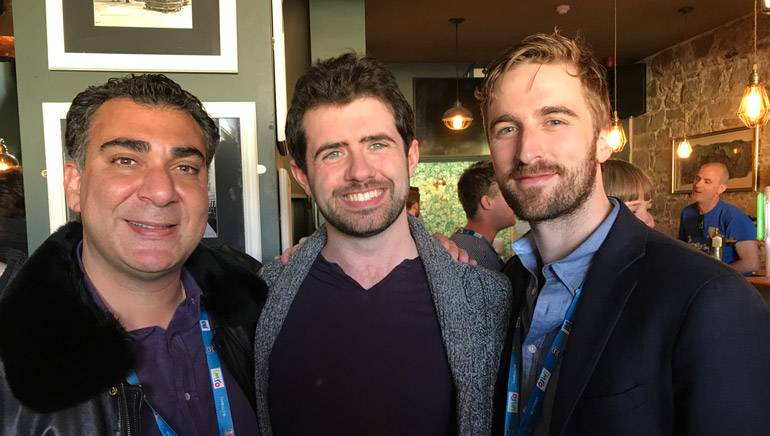 BMI's Brandon Bakshi, IMRO's Aaron Casey and BMI's Kevin Benz at the Music Cork conference in Cork, Ireland.