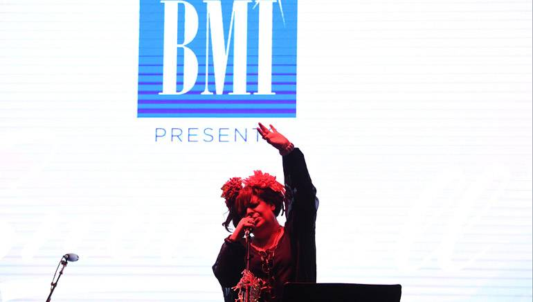 PARK CITY, UT - JANUARY 25: Angela McCluskey performs at the BMI Snowball presented by Canada Goose during the 2017 Sundance Film Festival at Festival Base Camp on January 25, 2017 in Park City, Utah.