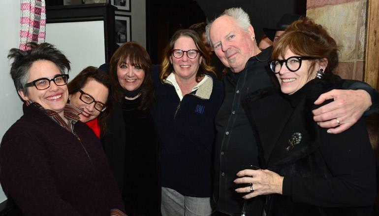 PARK CITY, UT-JANUARY 24: (L-R) Nora Kroll-Rosenbaum, Laura Karpman, BMI Executives Doreen Ringer-Ross and Alison Smith, George S. Clinton and Paula Silver attend the BMI Zoom dinner at Zoom Restaurant on January 24, 2017 in Park City, Utah.