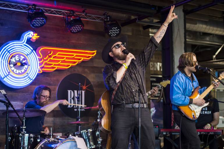 Paul Cauthen performs at YETI's Flagship Store during SXSW on March 15, 2017, in Austin, TX.