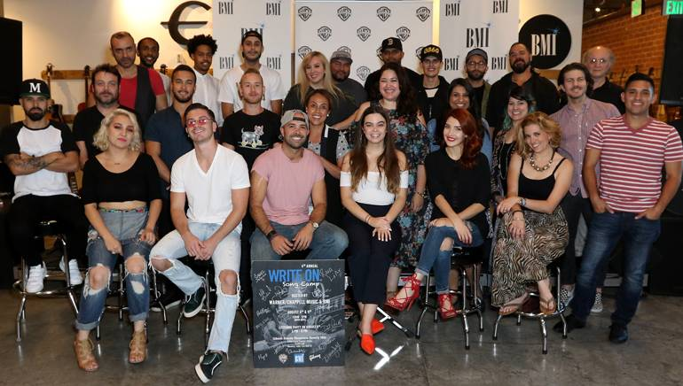 """BMI and Warner/Chappell """"Write On"""" song camp participants and executives gather following a successful finale."""