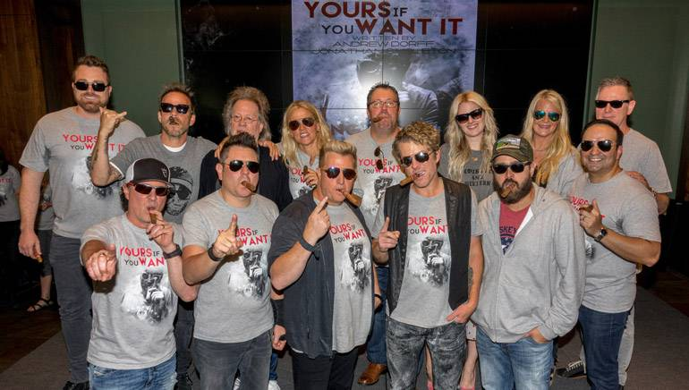 Photo features: (back row l-r): Big Machine's Kris Lamb, Steven Dorff, BMI songwriter Steve Dorff, BMI's Leslie Roberts, Universal Music Publishing's Kent Earls, ASCAP's Beth Brinker, Big Machine's Allison Jones, and Big Machine Record's General Manager Jim Weatherson; (front row l-r) Big Machine's Scott Borchetta, Rascal Flatts, songwriter Jonathan Singleton and Big Machine's Mike Molinar.