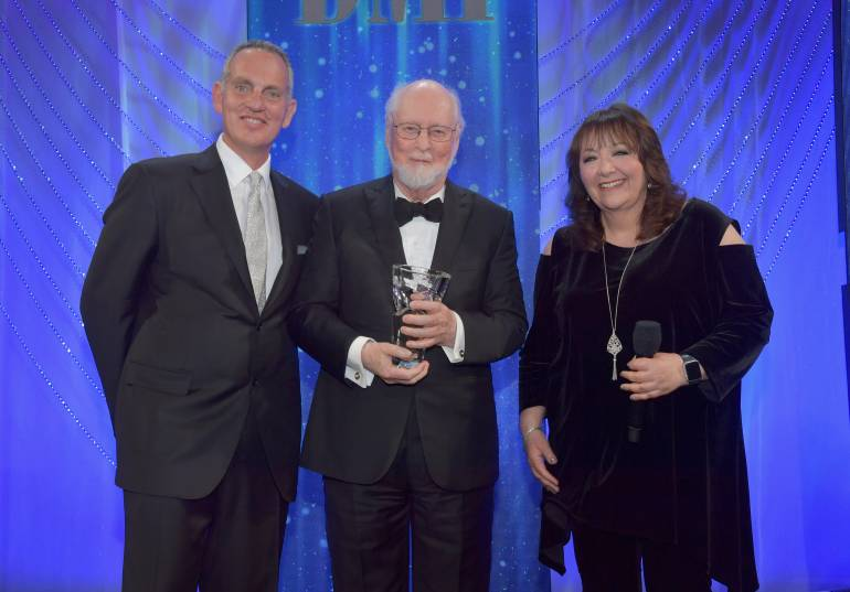 Pictured: BMI President & CEO Mike O'Neill, Honoree John Williams, BMI Vice President Doreen Ringer-Ross