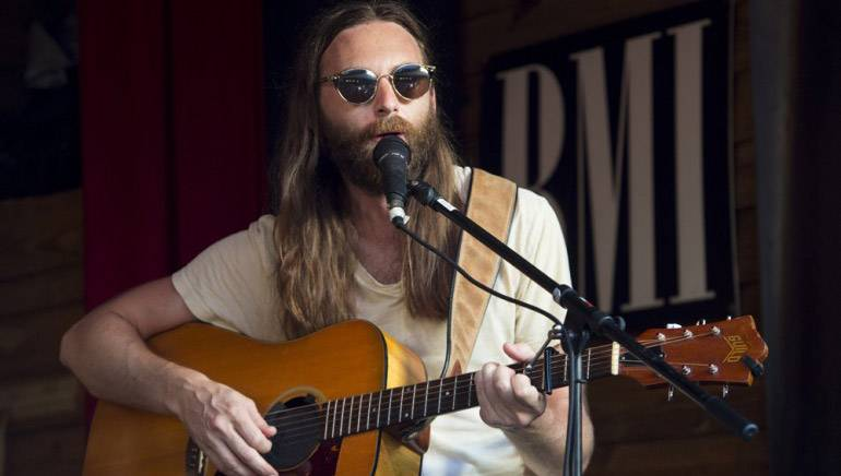Sam Lewis performs at the Smokin' Tuna during the 2017 Key West Songwriters Festival.