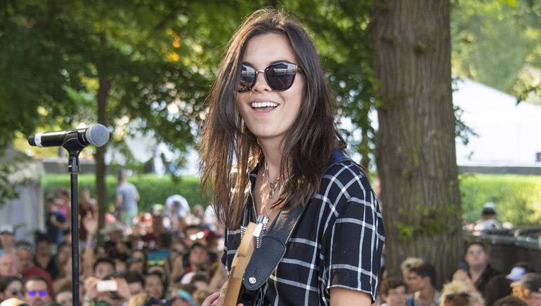 Cristal Ramirez of The Aces performing on the BMI Stage at Lollapalooza 2018.
