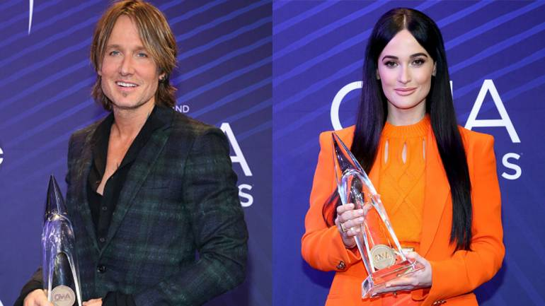 Pictured are Keith Urban and Kacey Musgraves.