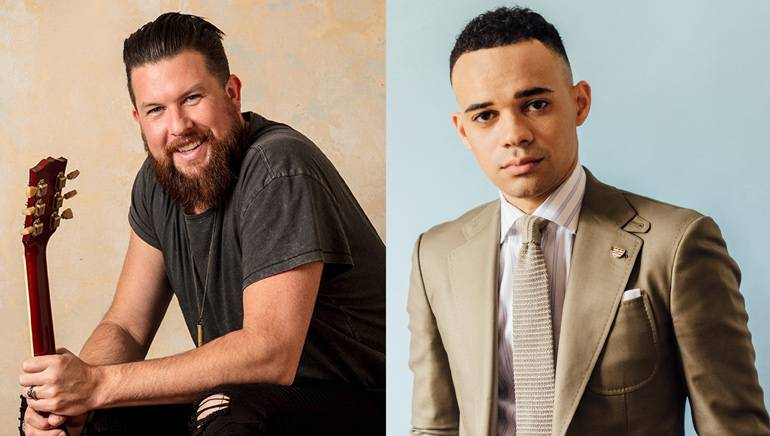 Pictured are Artist of the Year Zack Williams and New Artist of the Year Tauren Wells