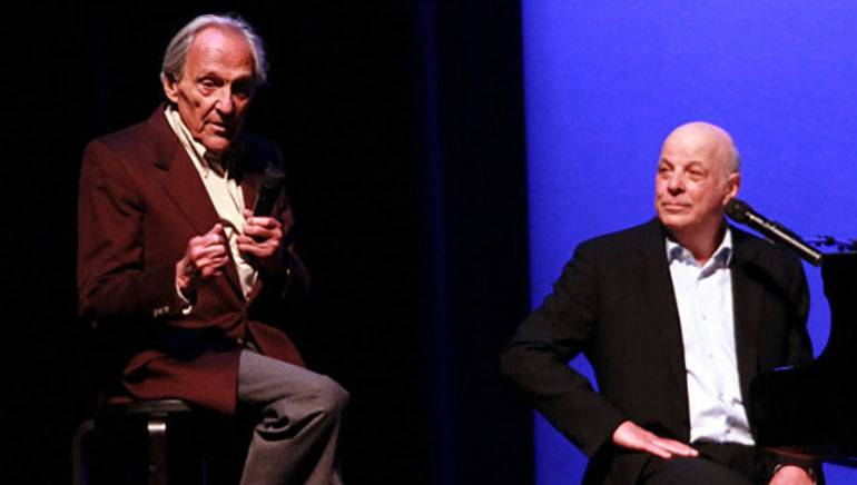 Norman Gimbel (L) and longtime collaborator Charles Fox (r) in 2011.