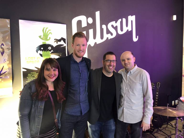 Pictured (L-R) at the release party are BMI's Evelyn Rascon and Chris Dampier, BMI composer Christopher Lennertz and BMI's Phillip Shrut.
