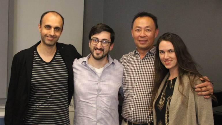 Pictured at the workshop are NYU Adjunct Professor Sergi Casanelles, BMI composer Eric Hachikian, BMI's Ray Yee and NYU Adjunct Professor Lillie McDonough.
