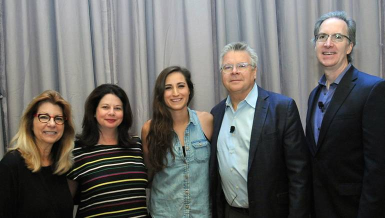 Pictured (L-R) at the 2018 Radio Show are: RAB President and CEO Erica Farber, BMI's Jessica Frost, BMI songwriter Angie Keilhauer,2018 Radio Show Steering Committee Chair and Alpha Media President and CEO Bob Proffitt and ABC Radio General Manager/VP Steve Jones.