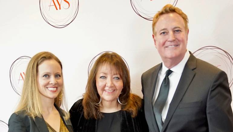 Pictured at the Hollywood Project benefit are AYS Executive Director Tara Aesquivel, BMI's Doreen Ringer-Ross and Randy Spendlove, President of Film & TV Music for Paramount Pictures.