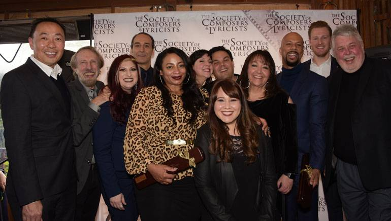 BMI executives gather for a photo with this year's Oscar-nominated composers and songwriters.