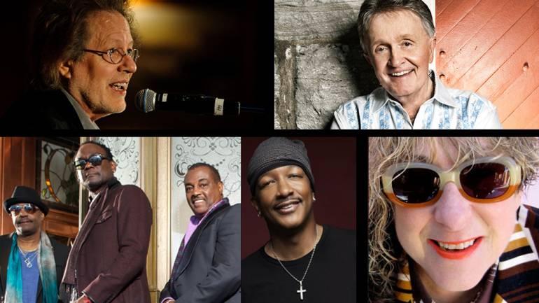 Top row: Steve Dorff, Bill Anderson  Bottom row: Ronald Bell*, George Brown, Robert Kool Bell, James JT Taylor, Allee Willis