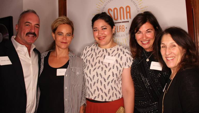 Pictured (L-R) at the SONA Summit are: BMI's Michael Crepezzi; attorney and legal advisor to SONA, Dina LaPolt; BMI's Krystina DeLuna; BMI songwriter and SONA Steering Committee member Shelly Peiken; and BMI's Barbie Quinn.