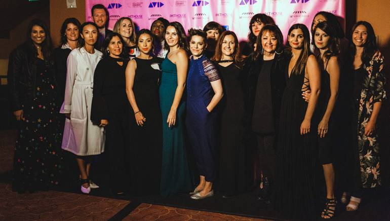 Pictured (front row) are: BMI's Reema Iqbal, conductor Sharon Lavery, composers ASKA, Germaine Franco, Tangelene Bolton, Perrine Virgile-Piekarski, Emily Rice and Cindy O'Connor, BMI's Doreen Ringer Ross, composers Tori Letzler and Jessica Weiss, and music supervisor Season Kent. (back row): BMI's Chris Dampier, composers Ronit Kirchman, Tamar-kali, Heather McIntosh and Mandy Hoffman, and BMI's Alex Flores.