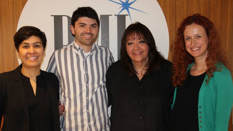 Pictured (L-R) are: UCLA Extension Music Program representative Kim Gouveia, BMI/Jerry Goldsmith Film Scoring Scholarship recipient Joseph Neidorf, BMI Vice President Creative - Film, TV & Visual Media Doreen Ringer-Ross and UCLA Extension Program's Erin Kaufman.