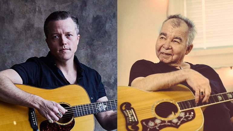 Pictured are Jason Isbell and John Prine