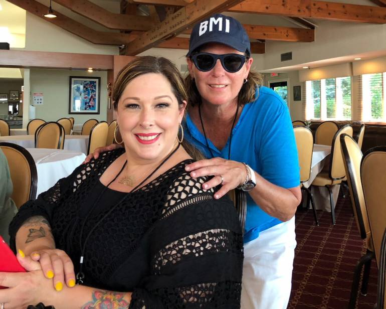 Carnie Wilson with BMI's Alison Smith