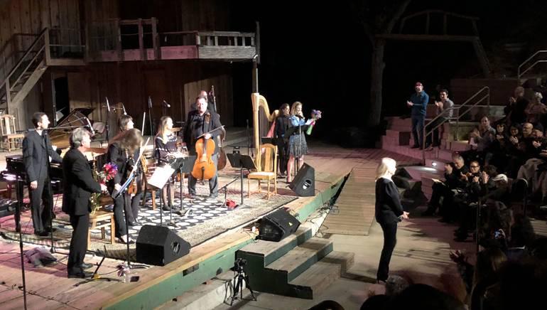 Lolita Ritmanis and orchestra perform at Theatricum Botanicum.