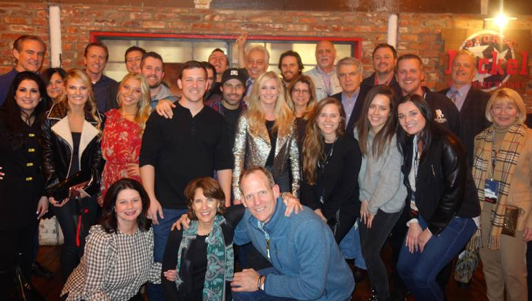 BMI songwriters and licensing customers gather for a team photo after the annual CRS dinner.