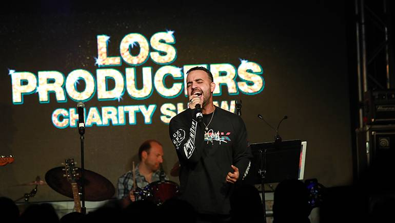COASTCITY performingat the 8th Annual BMI & Rebeleon Entertainment's 'Los Producers Charity Concert' held at Vinyl at The Hard Rock Cafe Hotel & Casino on November 15, 2018 in Las Vegas.
