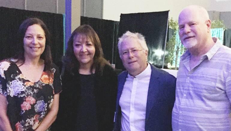 Pictured at Menken's concert are: producer Laura Engel, BMI's Doreen Ringer-Ross, award-winning BMI composer Alan Menken, and Disney's Scott Holtzman.