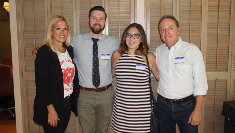 Photo ID: (L-R) BMI's Leslie Roberts, Pinnacle Bank's David Smith, Tri Star Entertainment's Alessandra Alegre and BMI's Jody Williams gather for a photo during the Next Big Wave's Young Professionals Breakfast.